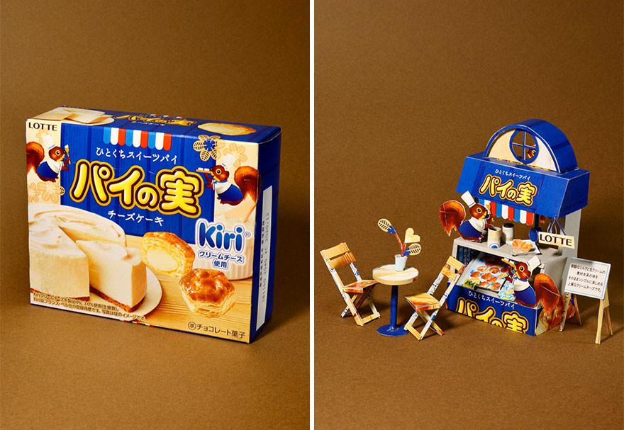 Японский художник продолжает создавать шедевры из упаковки продуктов