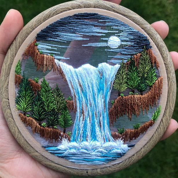 Удивительные вышитые пейзажи от Sew Beautiful