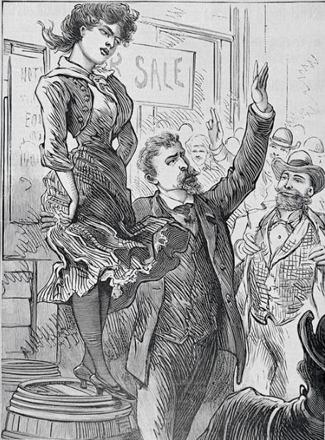 Как англичане продавали и покупали жен на рынке