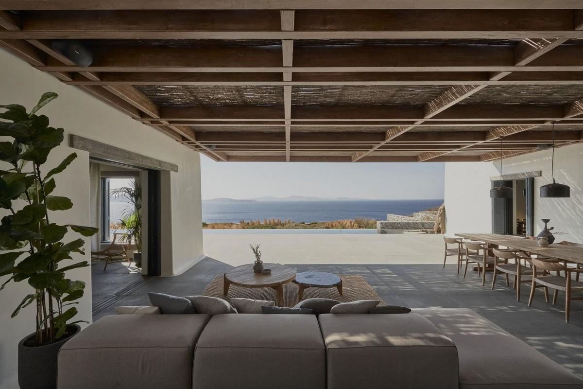 Вилла для молодой пары на острове Миконос в Греции