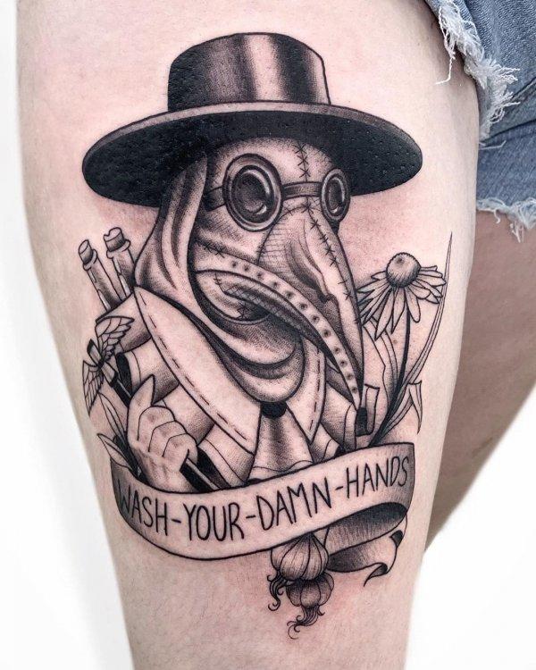 Креативные татуировки на память о коронавирусе