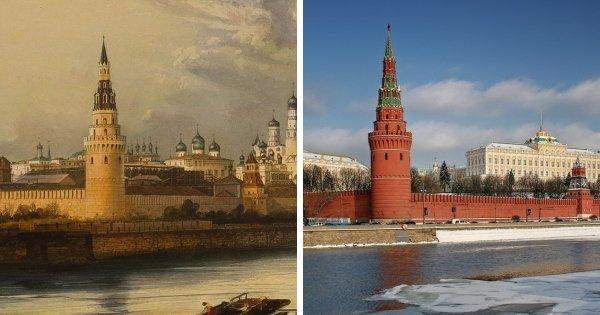 Изначальный вид знаменитых достопримечательностей: раньше и сейчас
