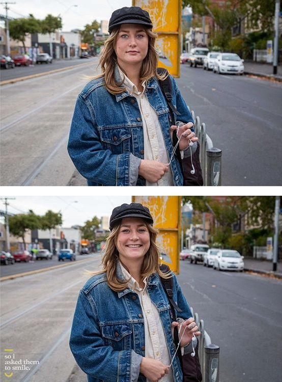 Австралийский фотограф показывает, насколько сильно улыбка преображает людей