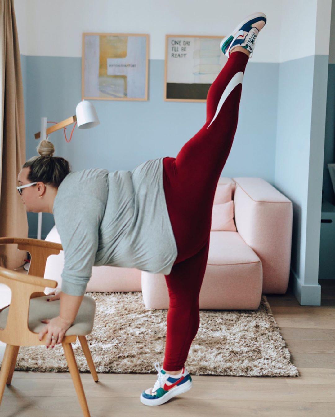 Балерина размера plus-size из Великобритании