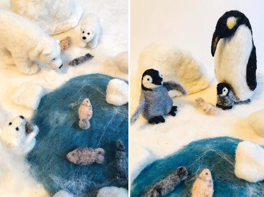Войлочные предметы и животные от Мии Вайсман
