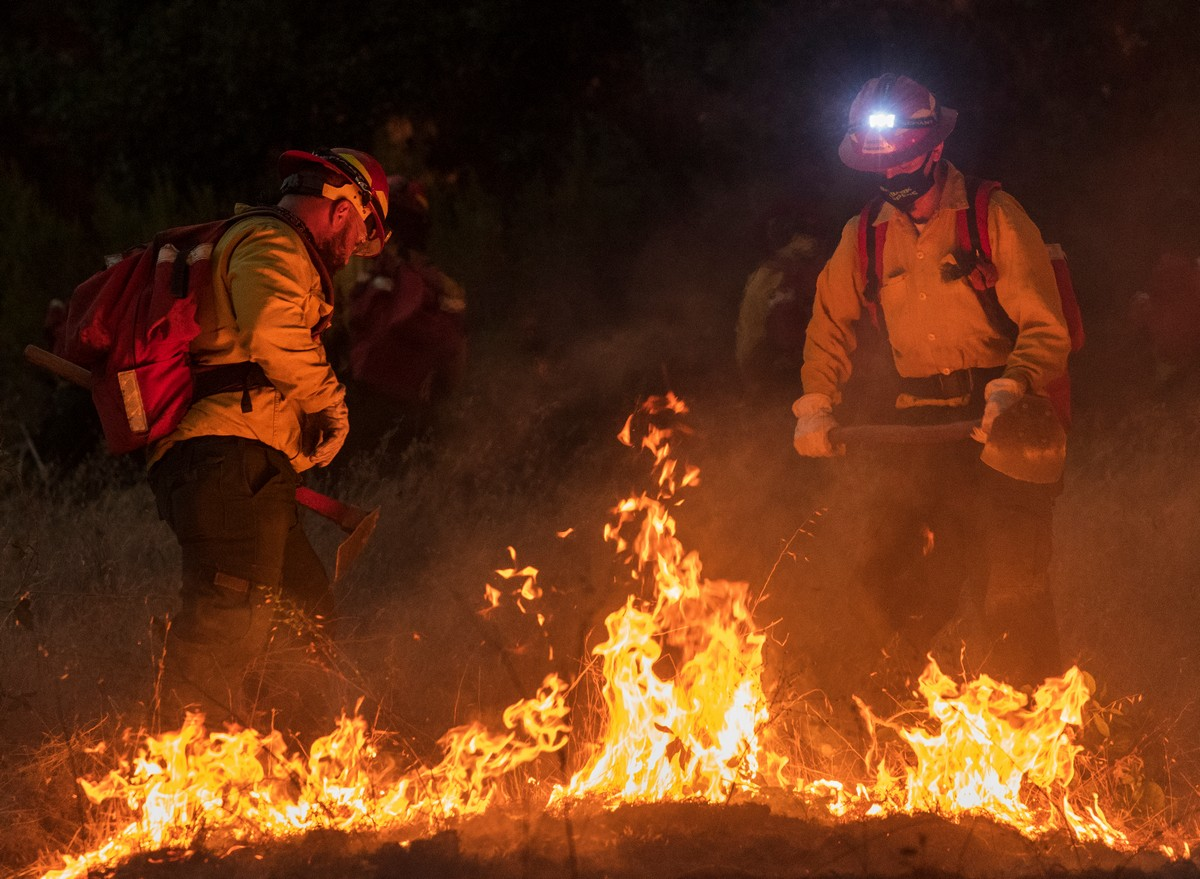 Фотографии лесных пожаров в Калифорнии