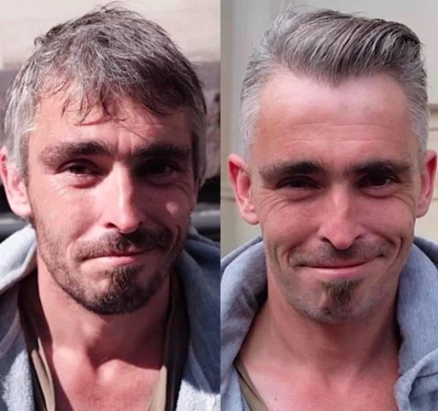 Лондонский парикмахер помогает бездомным людям преобразиться