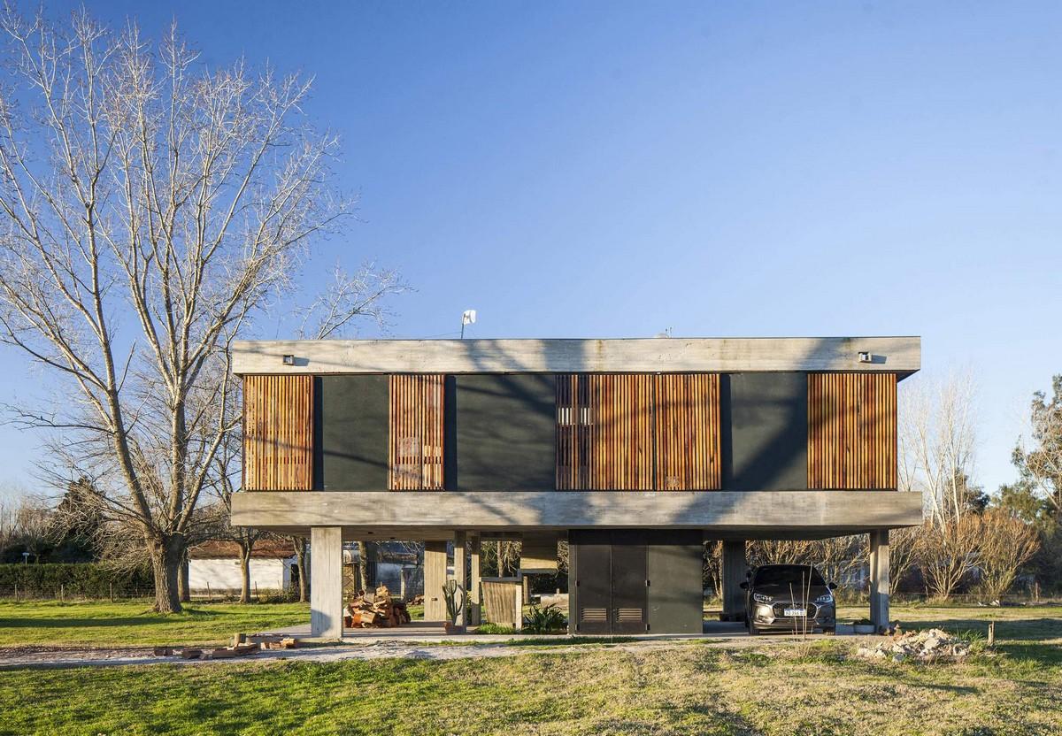 Уютный семейный бетонный дом в Аргентине
