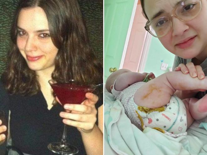 Жизнь родителей на снимках до и после рождения детей