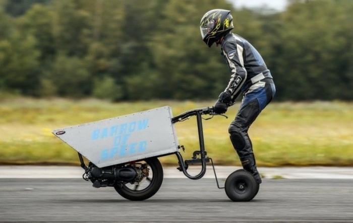 Британец собрал быструю моторизованную тачку