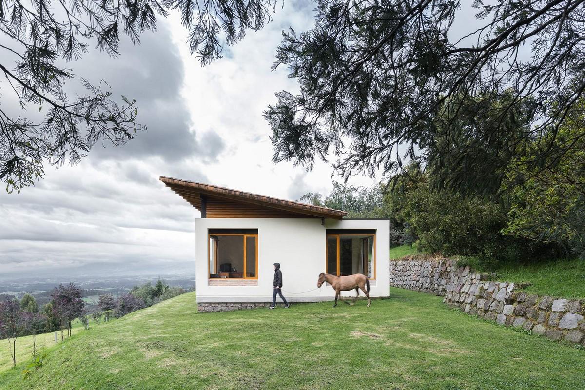 Уникальный загородный коттедж на склоне вулкана в Эквадоре