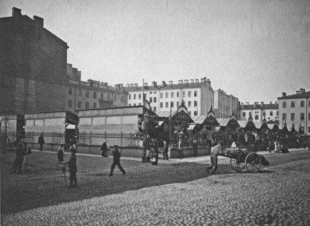 Люди на улицах Петербурга в начале ХХ века