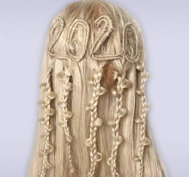 Замысловатые причёски, которые напоминают макраме