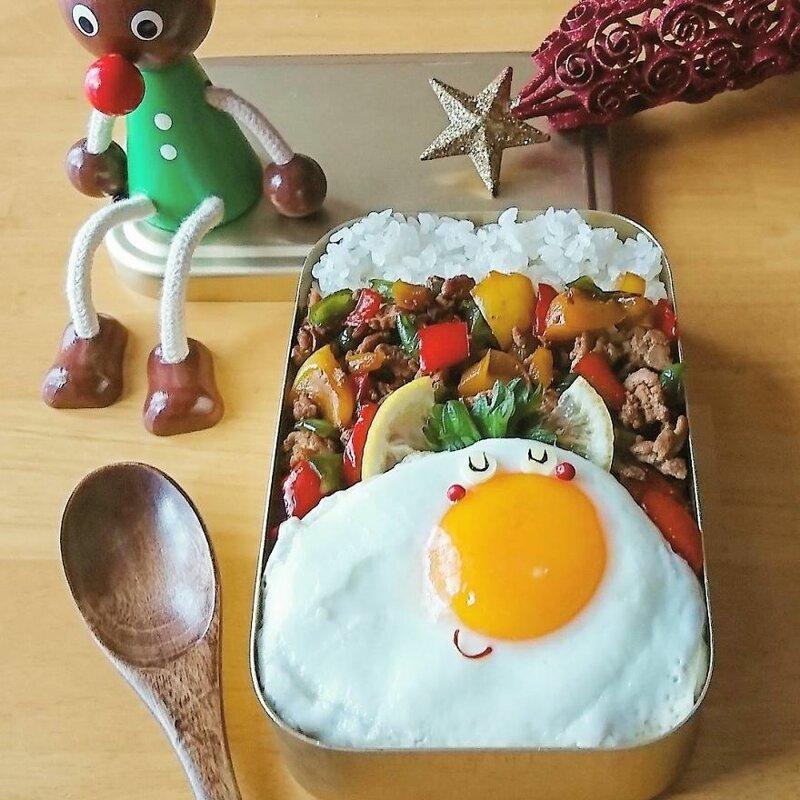 Красивые блюда с сюжетами из яиц от многодетной мамы из Японии