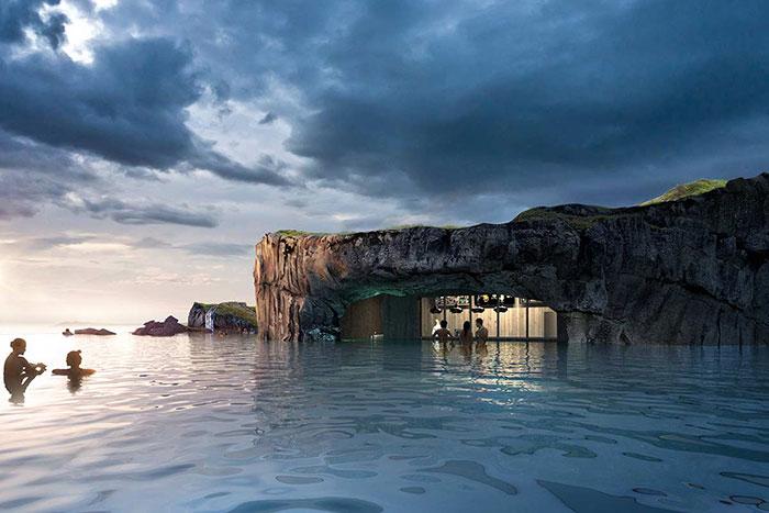 Исландия откроет роскошную лагуну с баром и невероятным видом