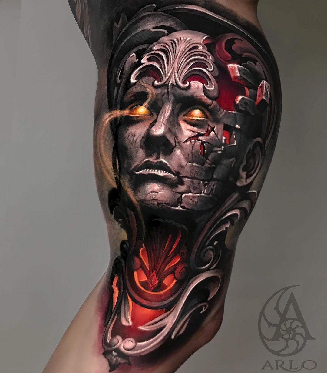Сюрреалистические 3D-татуировки от Арло ДиКристина