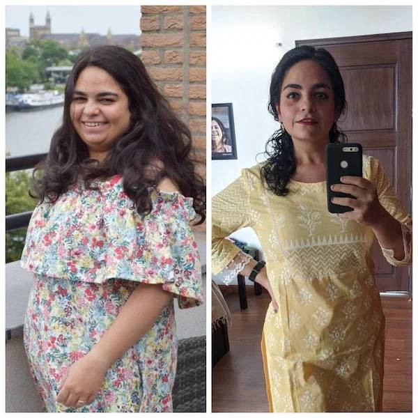Люди на снимках до и после того, как они захотели и похудели