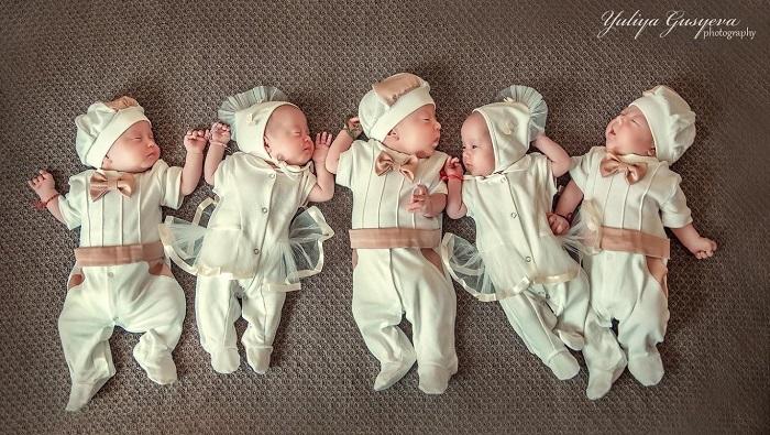 Известные истории семей, где родилось 5 детей сразу