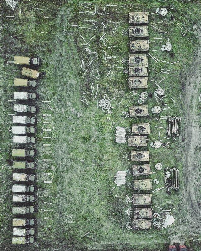 Большое кладбище танков в Сибири
