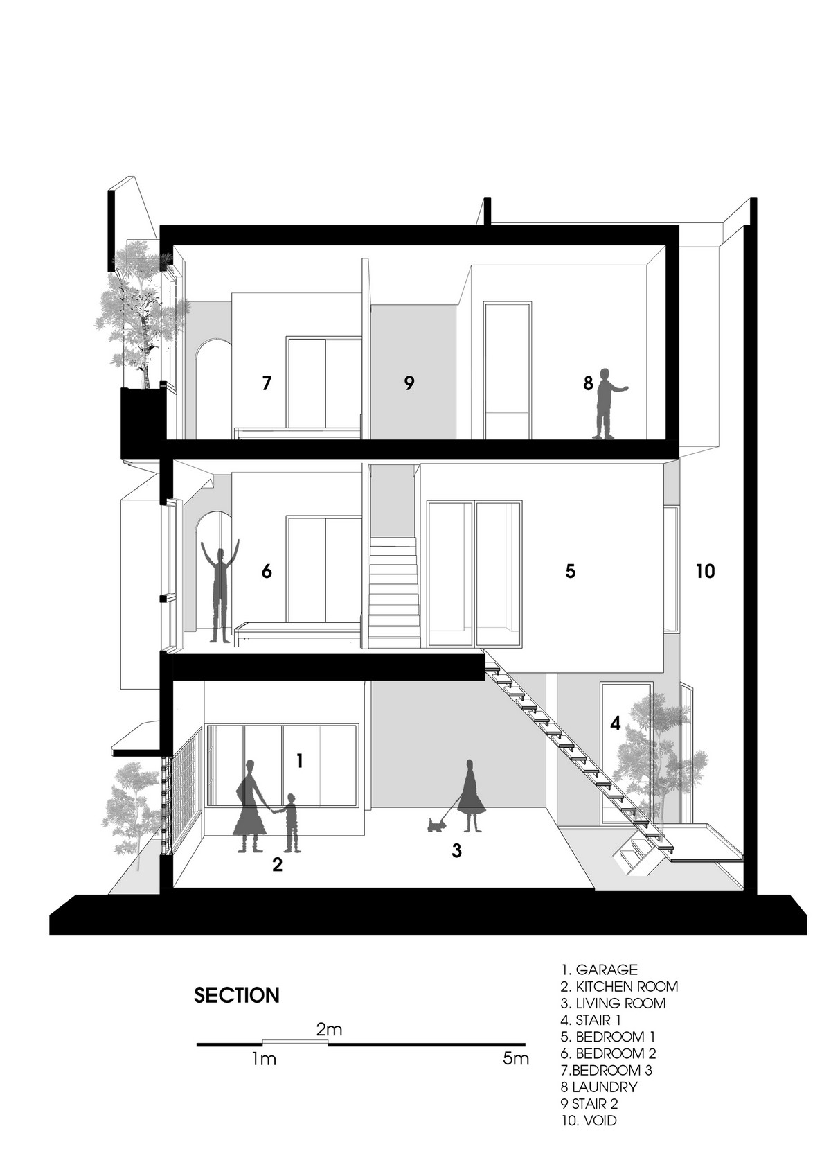 Трёхэтажный дом на небольшом участке во Вьетнаме