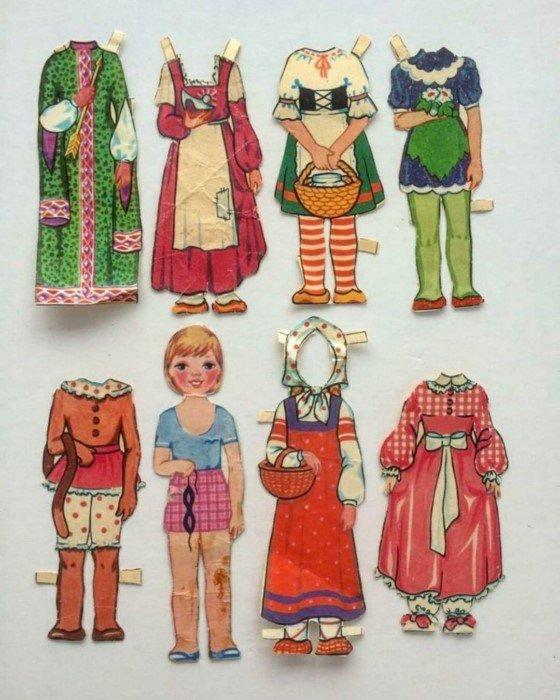 Бумажные куклы в СССР - мечта ребятишек