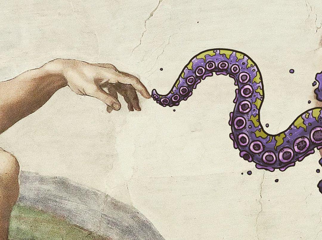 Мультяшные монстрики в произведениях изобразительного искусства