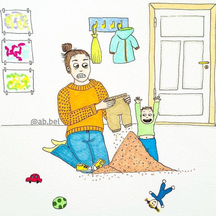 Юмористические иллюстрации о родительских буднях
