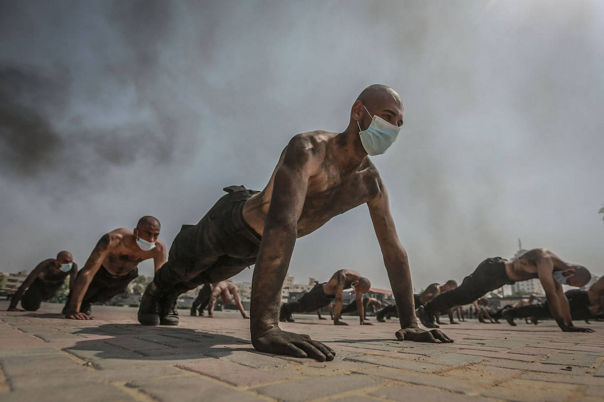 Тренировки новобранцев ХАМАС в Газе на снимках