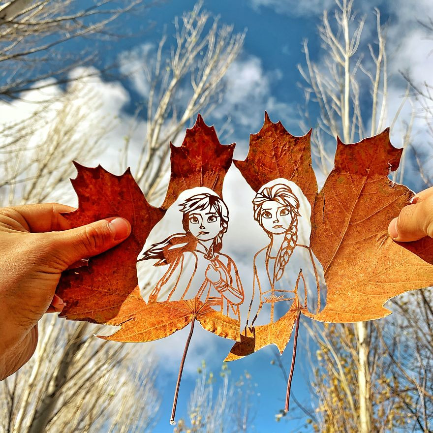 Необычные резные листья от Каната Нуртазина