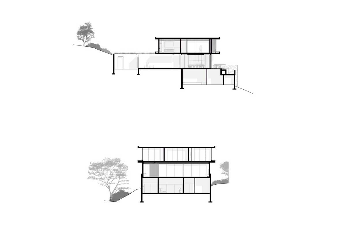 Дом с двором, зелёной крышей и бассейном в ЮАР