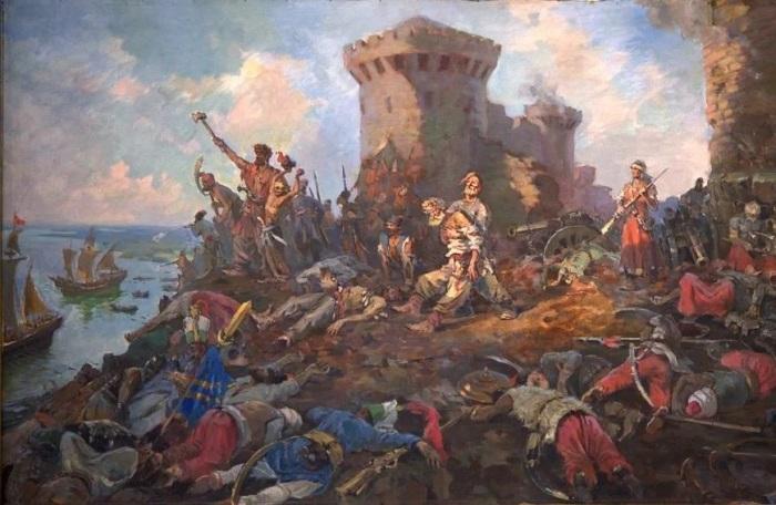 Как казаки выгнали турок из Азова