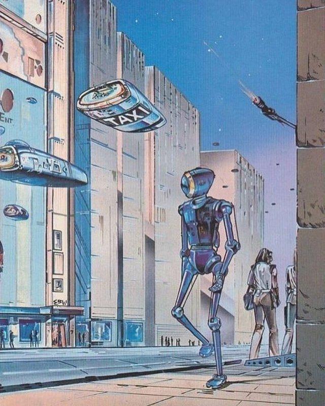 Каким художники видели будущее в XX веке