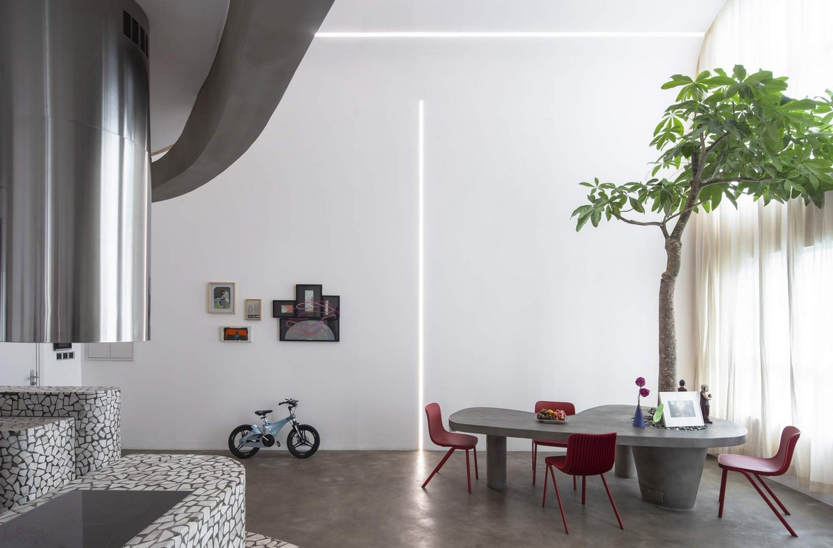 Современные двухуровневые апартаменты во Вьетнаме Картинки и фото