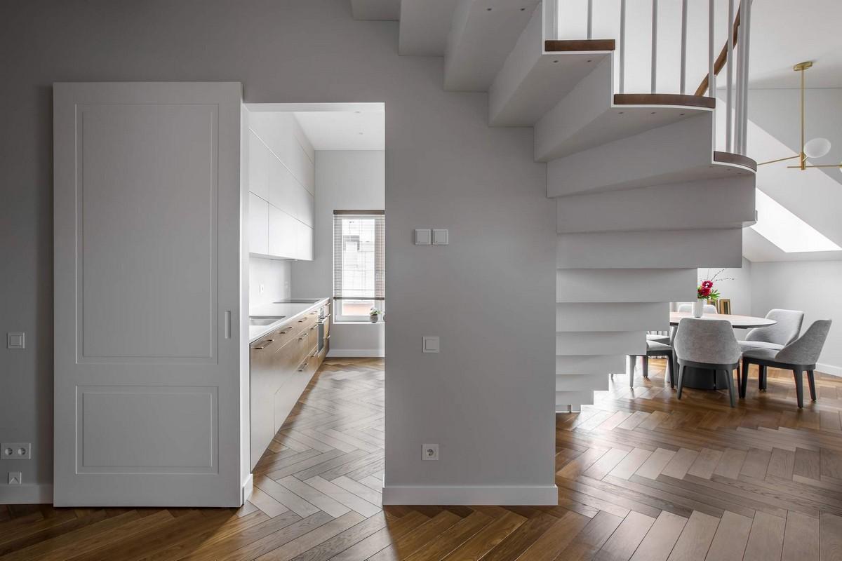 Современные двухуровневые апартаменты в Вильнюсе