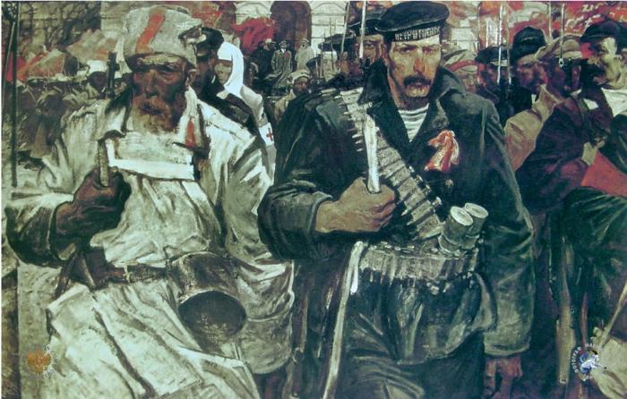Зачем матросы обматывались пулеметными лентами во время Революции