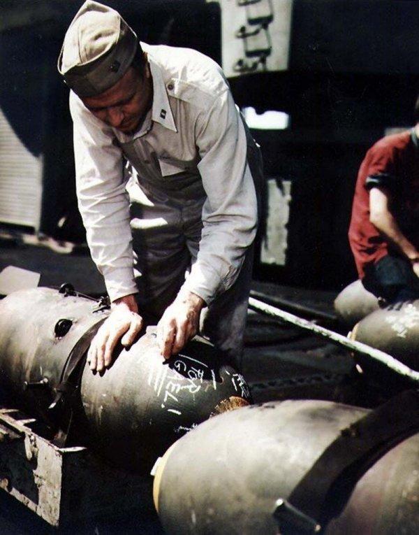 Редкие цветные снимки времен Второй мировой войны