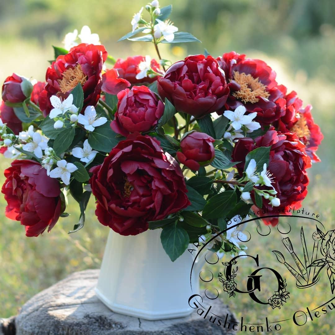 Удивительные фарфоровые цветы от Олеси Галущенко