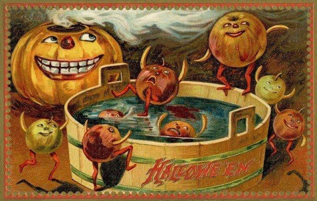 Подборка классных открыток на Хэллоуин начала 20 века