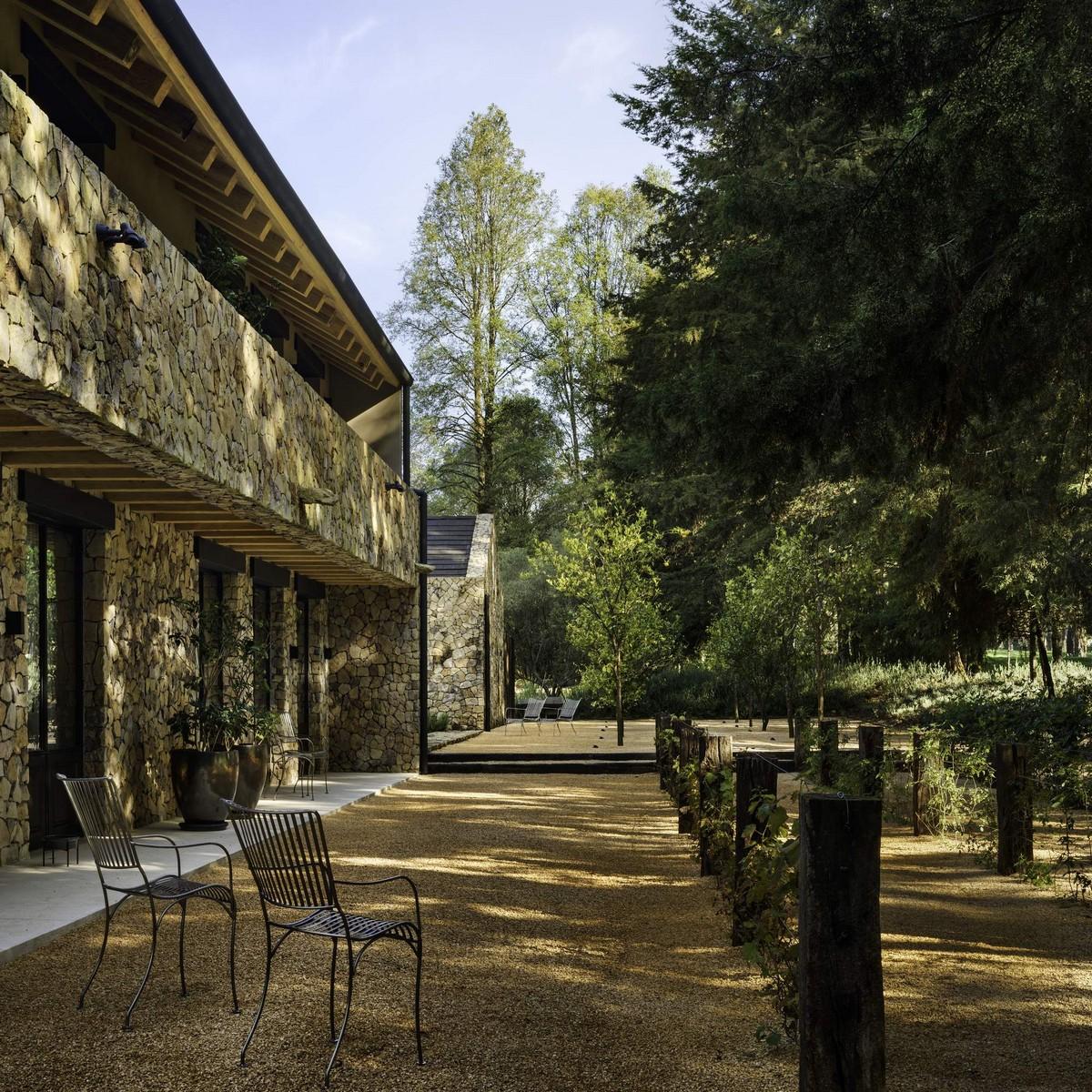Современное ранчо в стиле классической асьенды в Мексике