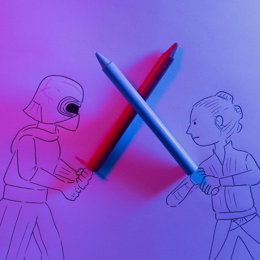 Персонажи Звёздных войн из повседневных предметов