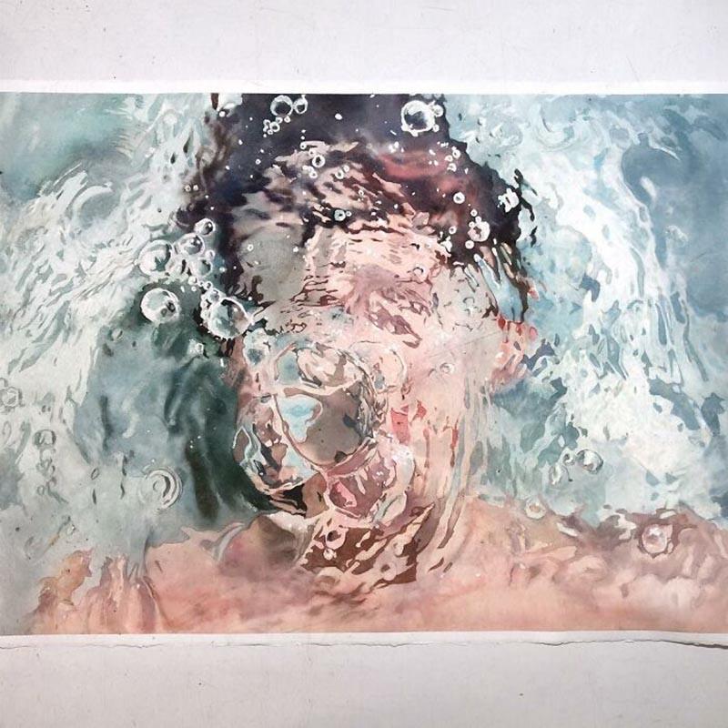 Реалистичные акварельные картины с водой от Маркоса Беккари