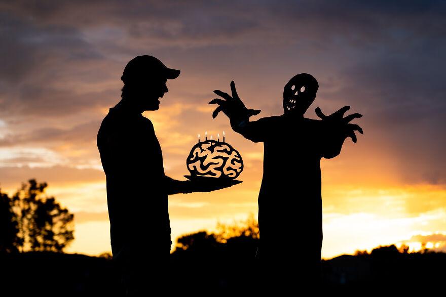 Посвящённые Хэллоуину закатные селфи от Джона Маршалла