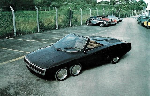 Panther 6 - необычный 6-колёсный британский кабриолет 1977 года