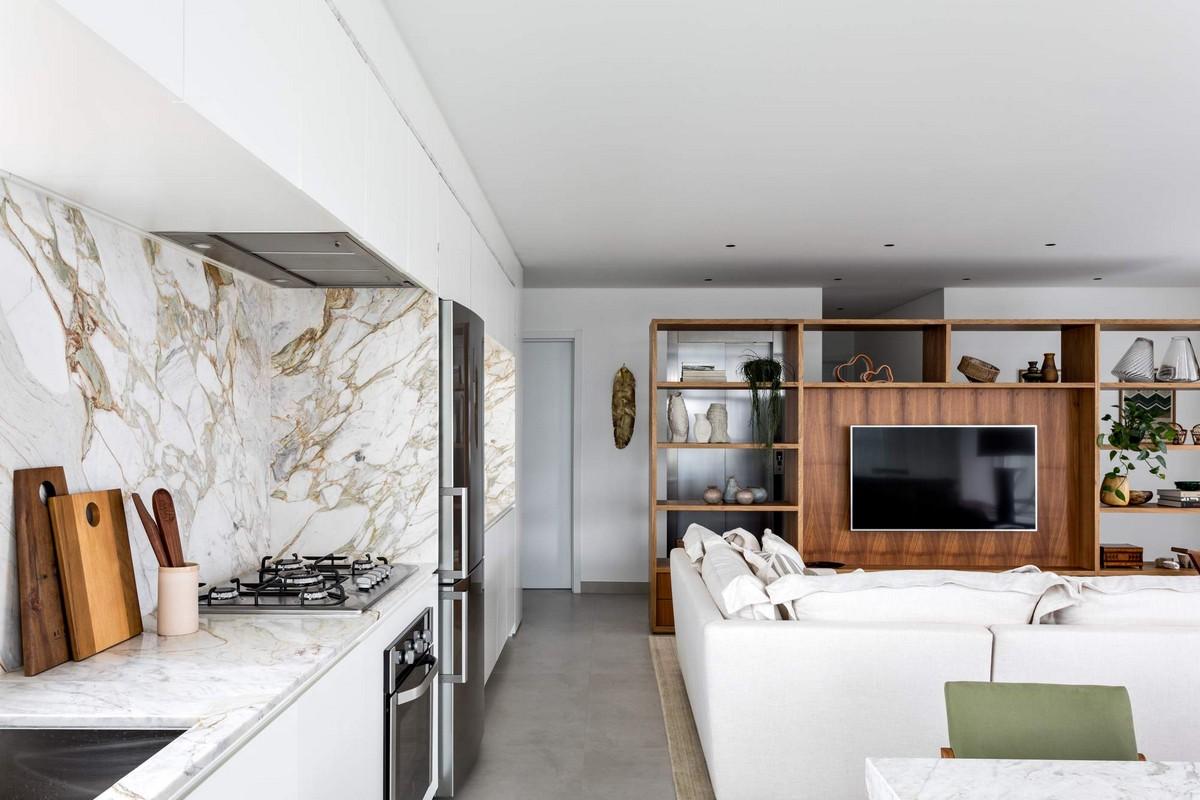 Современный интерьер апартаментов в Бразилии