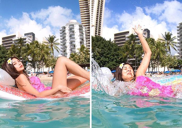 Модель из Таиланда показывает обратную сторону снимков из Instagram