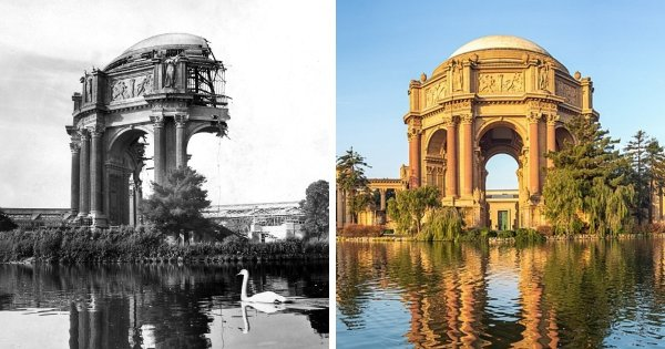 Известные сооружения до и после их реконструкции