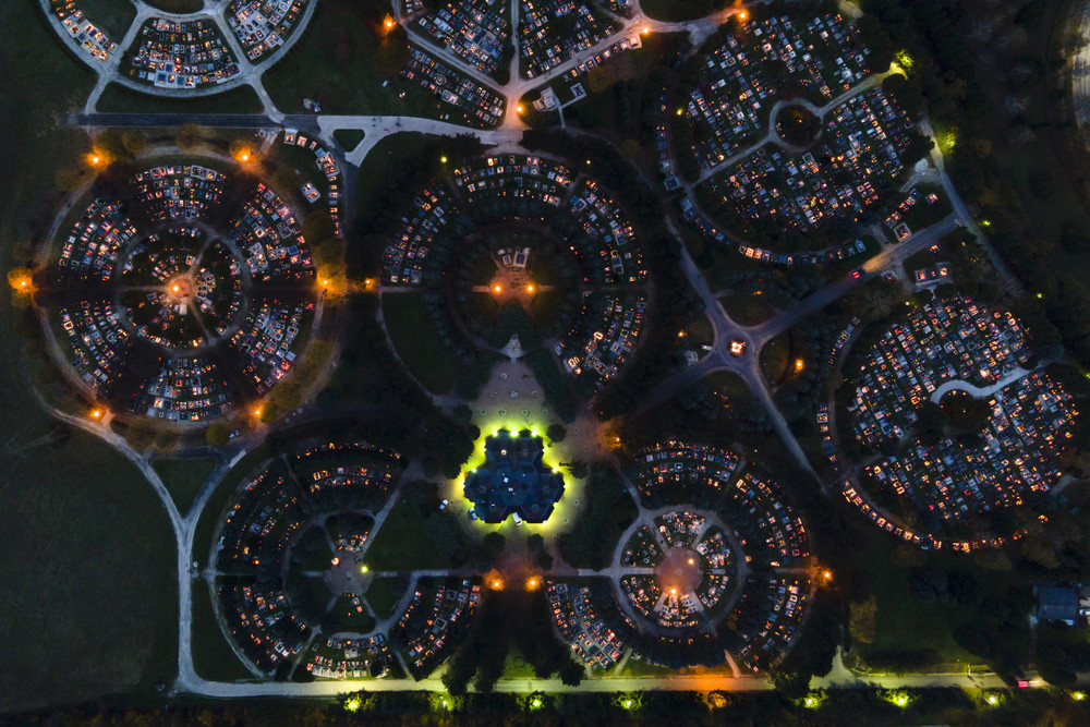 Фотографии разных уголков планеты, сделанные с высоты птичьего полёта