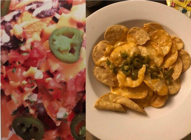 Еда на снимках: ожидание и реальность