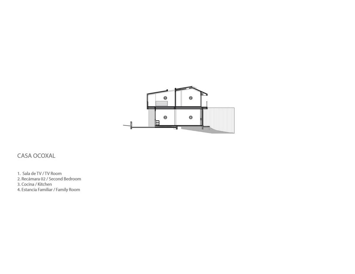 Семейный дом с дифференцированным зонированием в Мексике