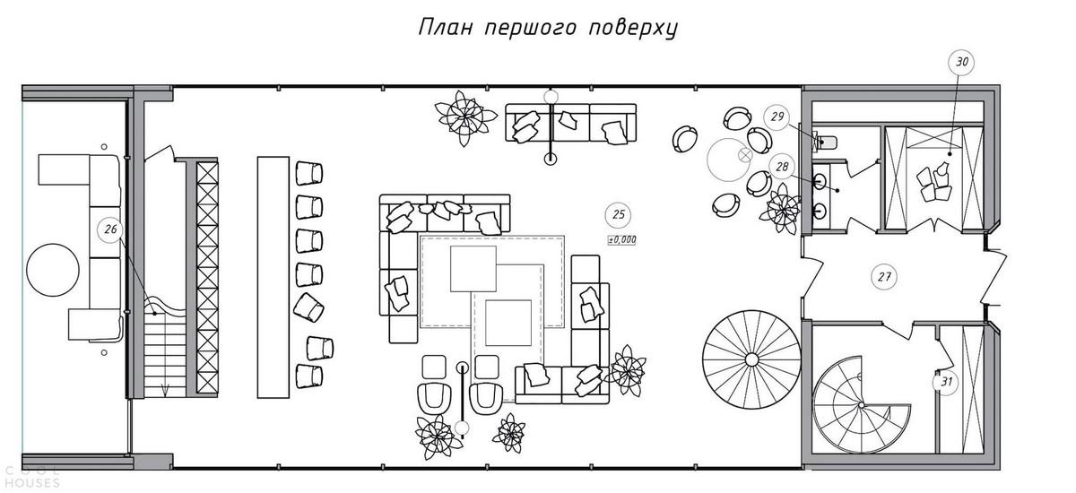 Минималистский частный дом в Киевской области
